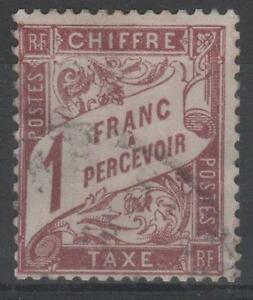 FRANCE-STAMP-TIMBRE-TAXE-N-25-034-TYPE-DUVAL-1F-MARRON-034-OBLITERE-TB-K507