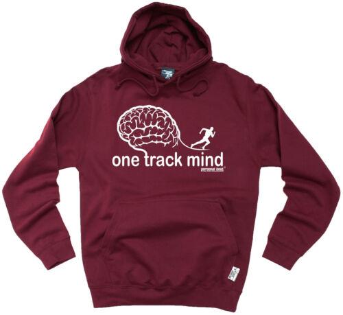 One Track Mind Running HOODIE hoody birthday funny fashion gym running runner