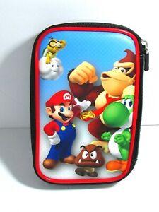 Nintendo 3DS Video Game Travel Case Super Mario Bros Donkey Kong