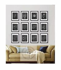 Golf Wall Decor set of 12 prints black and white golf patent drawing wall Art