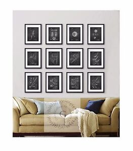 Details About Golf Wall Decor Set Of 12 Prints Black And White Patent Drawing Art