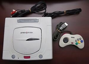 Sega-Saturn-White-Console-Japan-import-SS-system-US-Seller-Very-Good-US-Seller