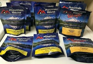 MOUNTAIN HOUSE FOODS Freeze Dried Emergency Breakfast 12 Pack VARIETY