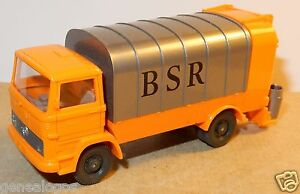WIKING-HO-1-87-MERCEDES-KUKA-CAMION-POUBELLE-REFUSE-TRUCK-SANITARY-MULLWAGEN-BSR