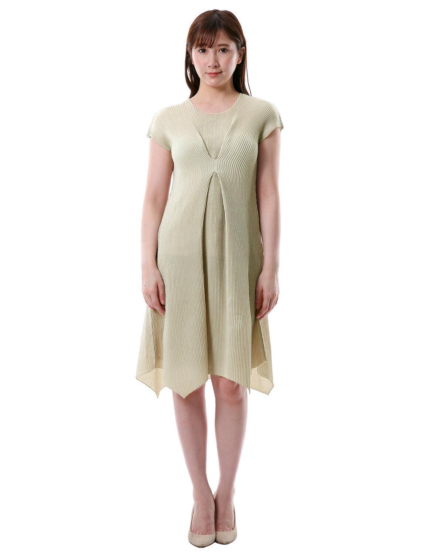 Lanzadera  pliegues deformación dobladillo delantero ubicado a-line Vestido de Mujer Talla 2-28  100% precio garantizado