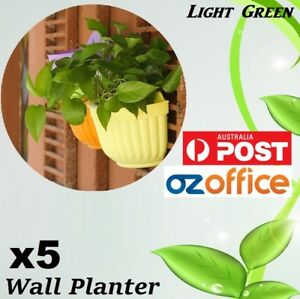 5-x-Wall-Planter-Hanging-Flower-Pot-Garden-Basket-Home-Garden-Wall-Decor
