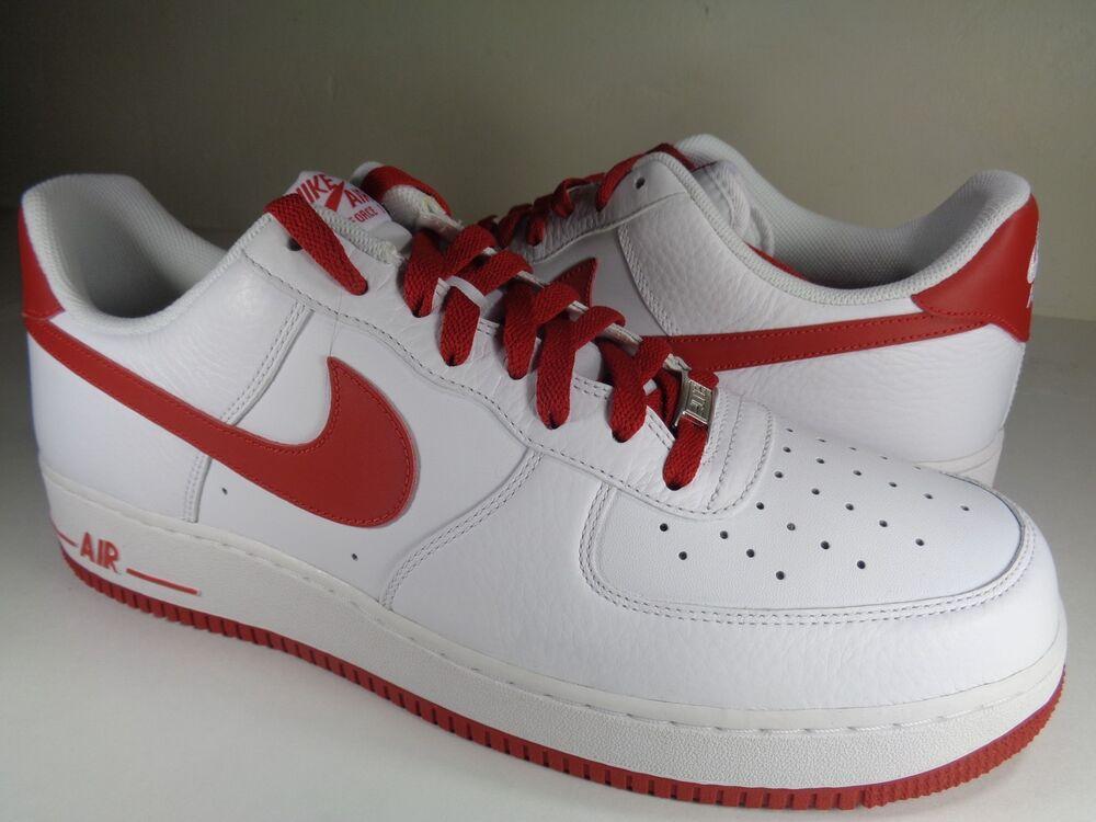 Nike Air Obliger 1 '07 blanc Varsity rouge Rare SZ 14 (315122-189)