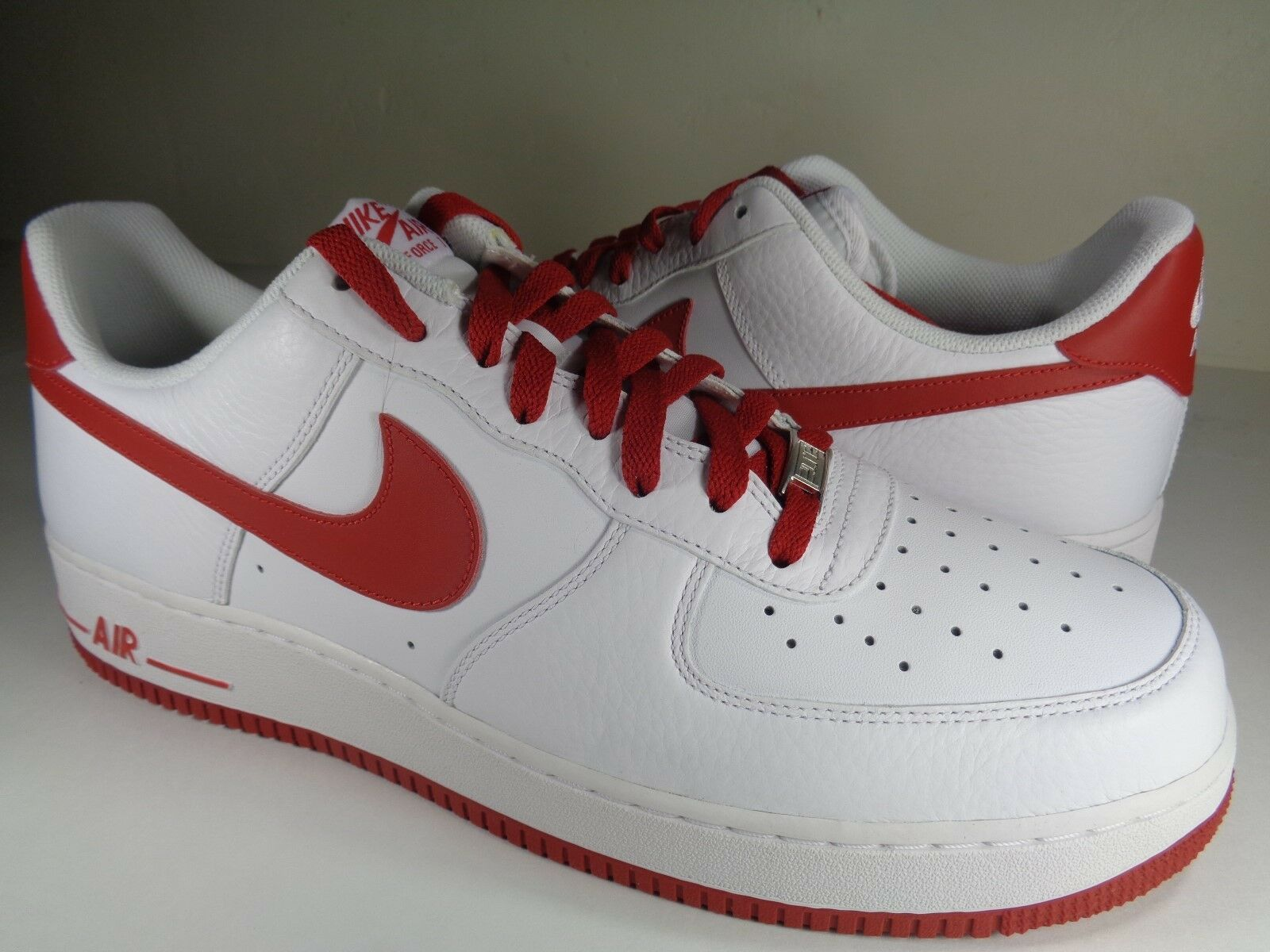 Nike Air Force 1 '07 White Varsity Red Rare SZ 14 (315122-189)