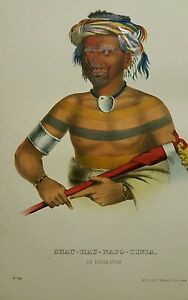 Plate-No-96-SHAU-HAU-NAPO-TINIA1872-Octavo-History-of-Indian-Tribes-of-N-America