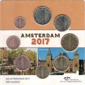 NEDERLAND-UNC-EURO-JAARSET-2017-AMSTERDAM-serie-1-cent-t-m-2-euro