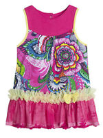 Desigual Silvia Fushia Pink Floral Baby Girl Sleeveless Spring And Summer Dress
