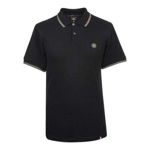 Pretty Green Noir Tipped Pique Polo Shirt-C7GMU44239099
