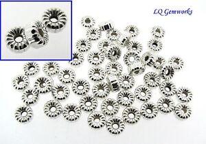 50 Boucle D'oreille Argent Massif 6mm Ondulé Rondelle Perles R2fhnxo5-07224036-266141303