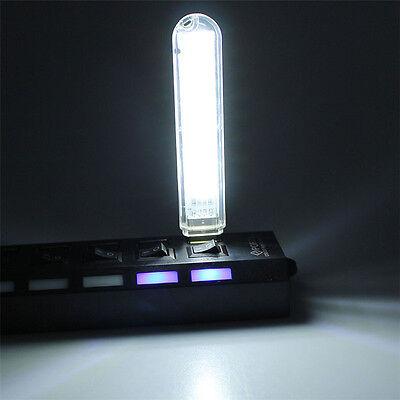 USB LED Little Night Light Reading Lamp Dimmer Touch Switch White/Warm Type