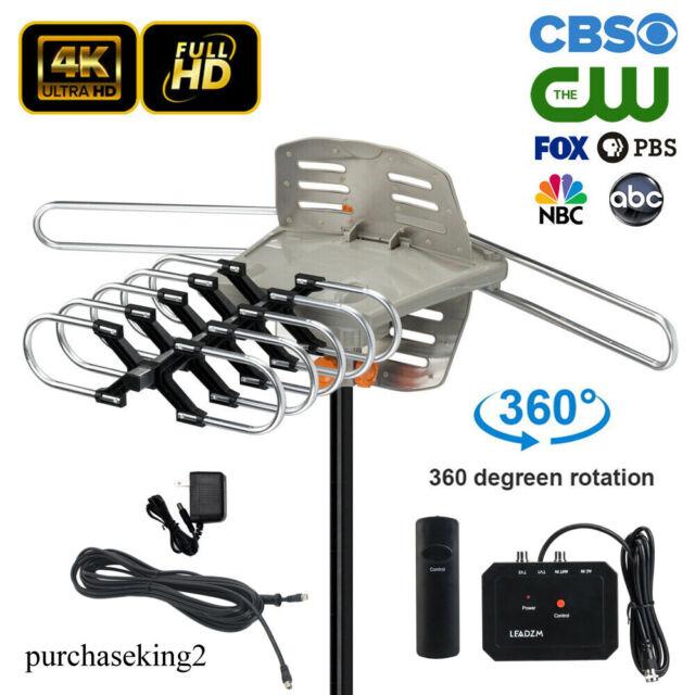 50 Miles HD Digital Indoor TV Antenna Black US Plug 1080P VHF//UHF