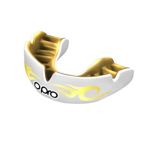Opro Power Fit Urban Mouth Guard White Gum Shield Custom MMA Boxing Martial Arts