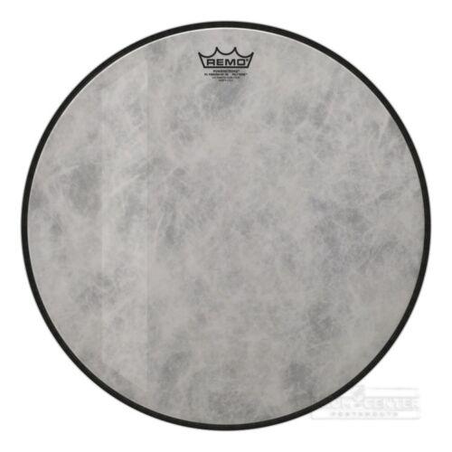 "18/"" Video Remo Powerstroke P3 Felt Tone Fiberskyn Diplomat Bass Drumhead"