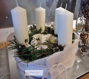 adventskranz wolle tanne kiefern frisch adventsgesteck. Black Bedroom Furniture Sets. Home Design Ideas