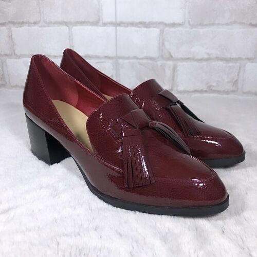 Marc Fisher Brick Red Vegan Patent Leather Pointed