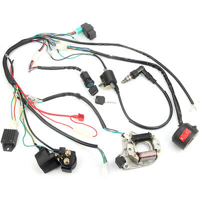 CDI Wire Harness Assembly Wiring Kit For 50cc 70cc 90cc 110cc ATV Electric Start