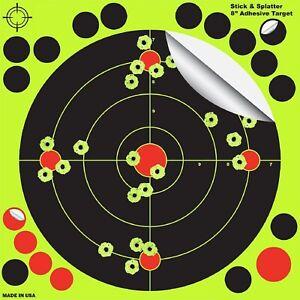 100-Pack-8-034-Shooting-Targets-Reactive-Splatter-Shot-Gun-Rifle-Range-Paper-Target