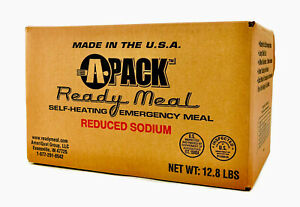 A Pack Case Of 12 Meals Ready To Eat MRE Reduced Sodium Insp/Test 07/2024 Sealed