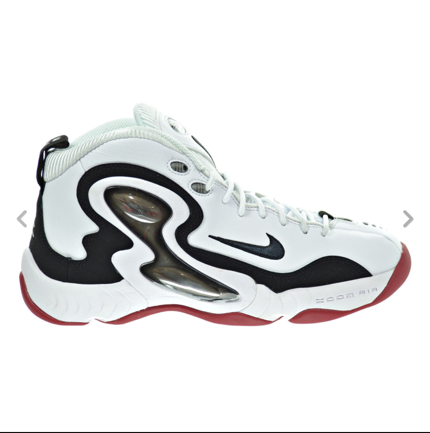 Nike Zoom Air Mens Shoes, Sneakers White Black Red Silver 805272-100 Sz12