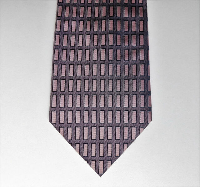 Pink check tie from George Man pure silk