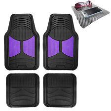 Universal Fitment Floor Mats For Auto Car Suv Van Rubber Purple Black Withdash Mat Fits 2012 Toyota Corolla