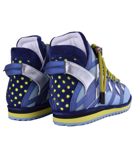 Sneaker 04641 top Runway Dolce Blau Gabbana Mix match Blue sneakers High 5v8Ztqw8