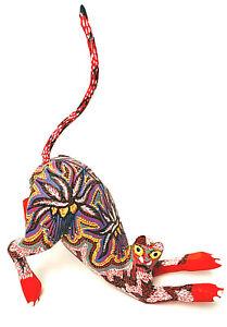 Folk-Art-Copal-Wood-Alebrije-Oxacan-Red-Cat-Figurine-Pepe-Santiago