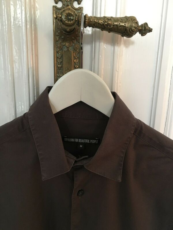 "Drykorn Hemd Braun Gr. M (48/50) ""larry"" Men Business Slim Fit Stylisch"
