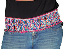 Gypsy Belt - Mirror Work Embroidered Tribal Belly Dance Clothing Accessory