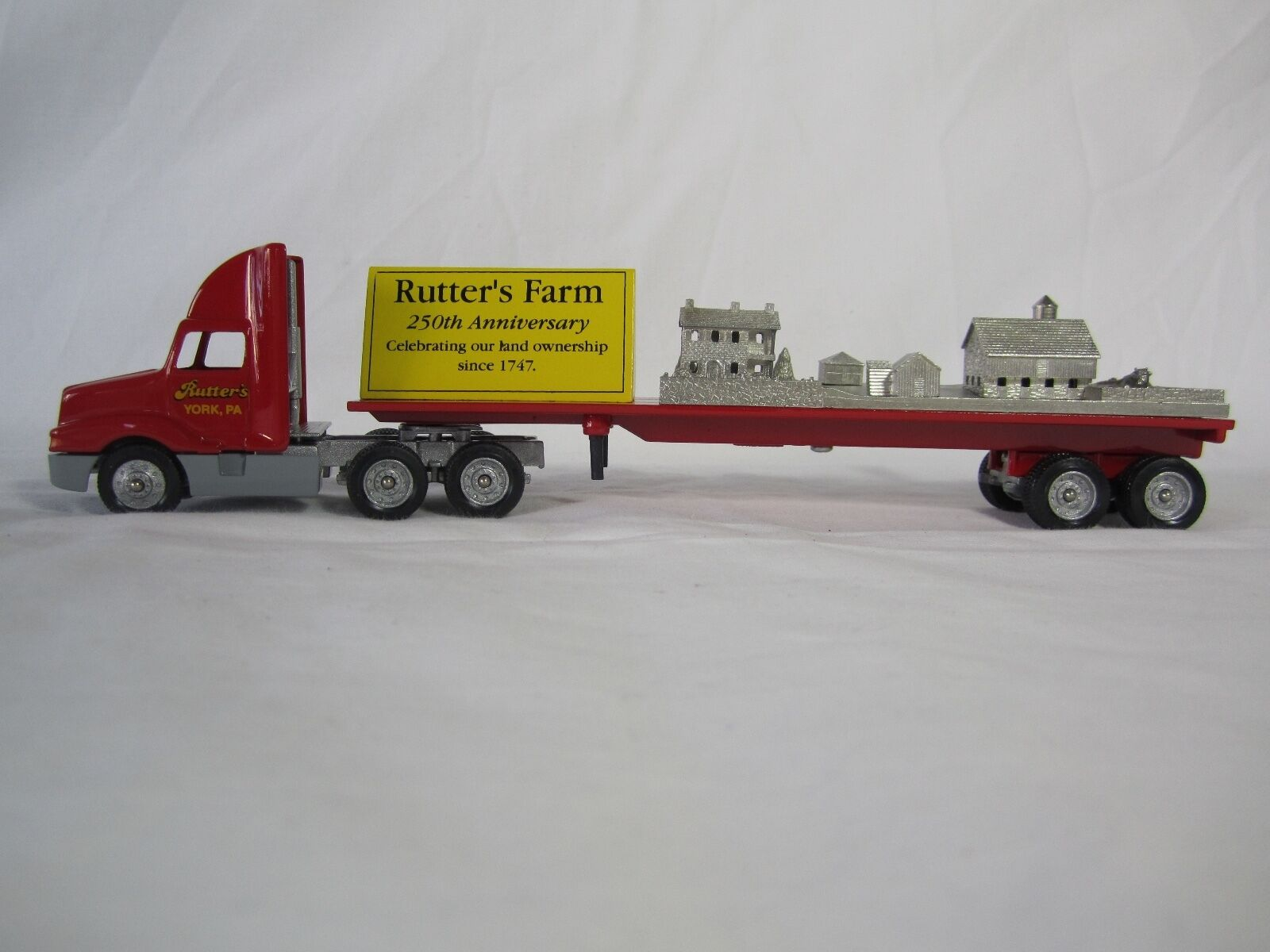 Winross 1997 RUTTER'S 250th Annivers. Land Own'shp  Flatbed w  Pewter farm scene
