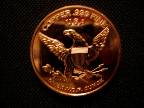 """1 Ounce .999 Copper Round USS Constitution /""""Old Ironside/"""" 5 Coins"""