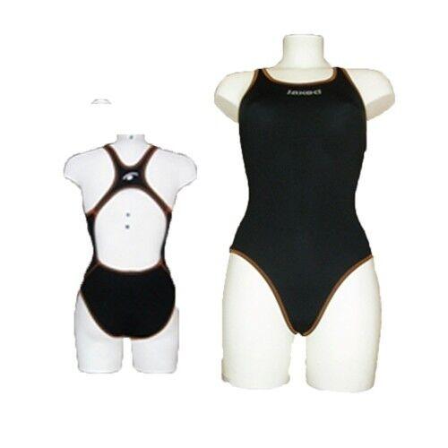 Costume JAKED women MILANO BASICO black ARANCIO Tg.38 ITA Anticlgold Swim