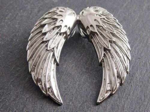 Edelstahl Anhänger Flügel Kettenanhänger Wings Biker Rocker Schmuck Kette Engel