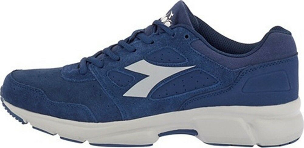 f860522a153e DIADORA SHAPE 10 S shoes de sport homme casual baskets cuir en daim blue