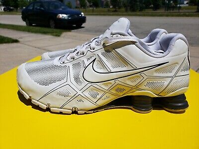 sports shoes 07f9b 8ed22 NIKE Shox Turbo XII 12 SL + RUNNING SHOES WHITE BLACK MENS SZ 12 VERY RARE  NICE! | eBay