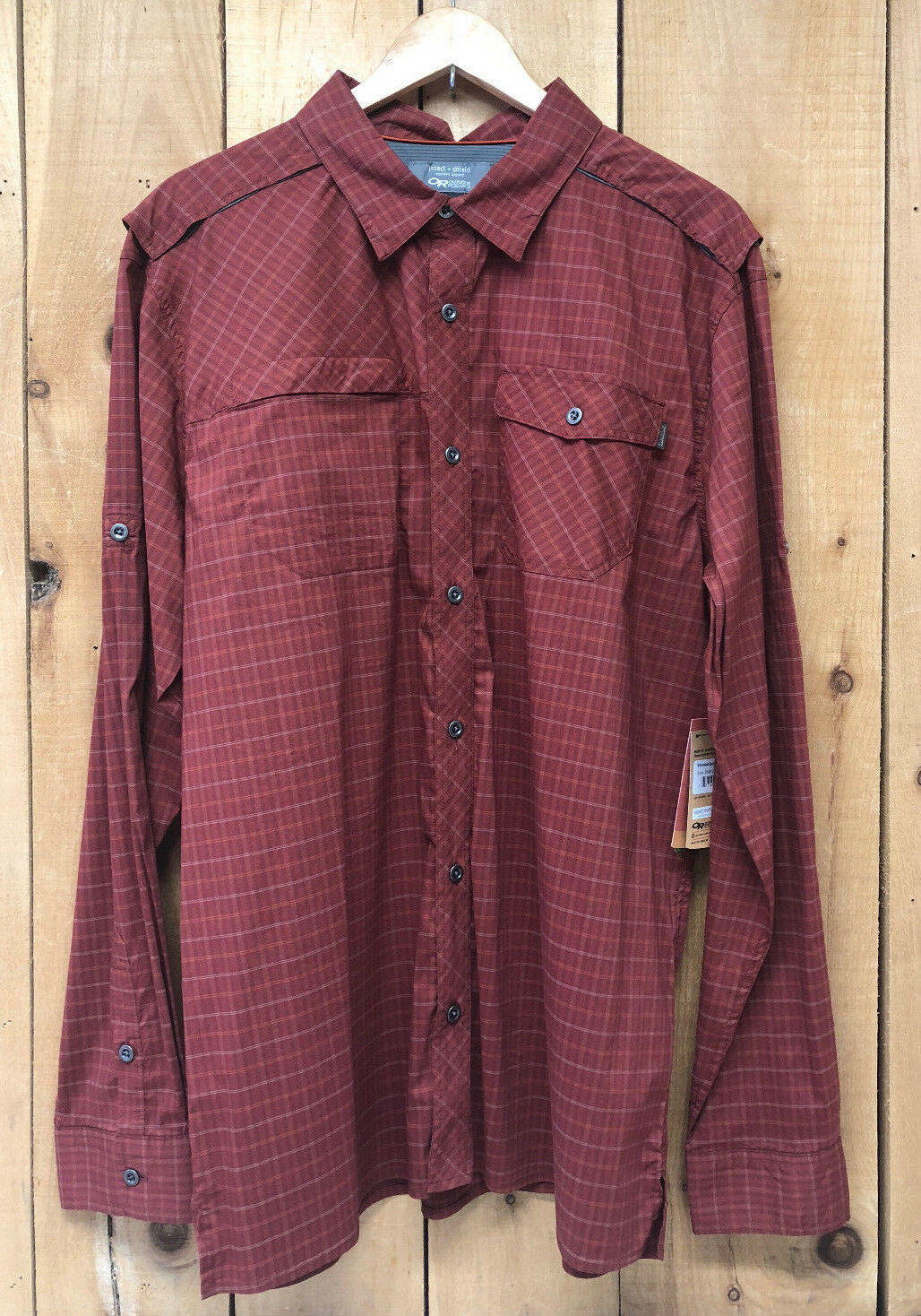 Outdoor Research Men's Kennebec Sentinel Shirt w  Insect Shield - Tikka - New