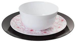Image is loading TRENDABLES-Flora-Premium-Wedding-Party-Disposable-Plastic- Dinnerware-  sc 1 st  eBay & TRENDABLES Flora Premium Wedding Party Disposable Plastic Dinnerware ...
