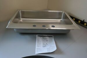 Details about Elkay Lustertone Single Bowl Top Mount Stainless Steel ADA  Kitchen Sink (GT)