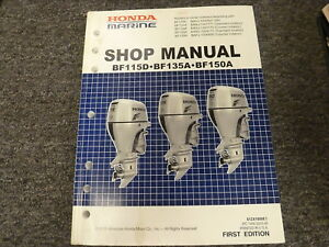Honda Marine BF115D BF135A & BF150A Outboard Motor Shop