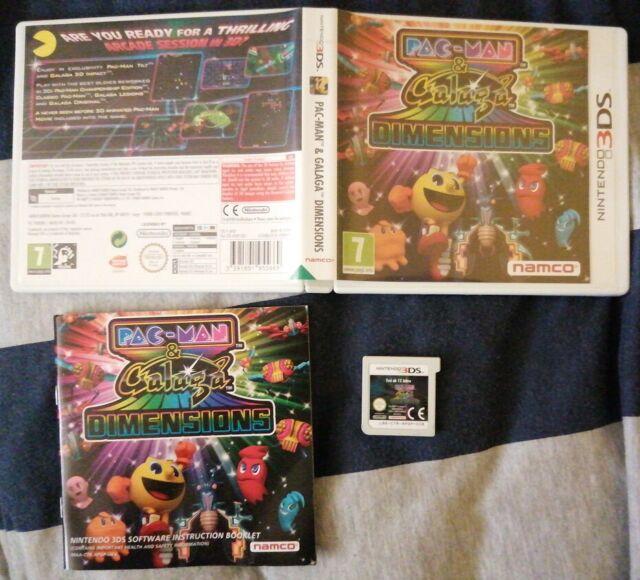 Pac-Man & Galaga Dimensions/3 DS/Near-Comme neuf/Envoi Jour Suivant par 1st Classe signé-pour