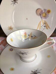 Vintage 1960s Eberthal Bavarian Porcelain Trio