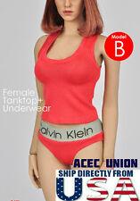 1/6 Women Tank Top & Underwear RED For Phicen Hot Toys Female Body  USA SELLER