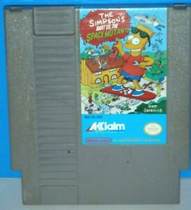 Simpsons: Bart vs. The Space Mutants- Authentic! (Nintendo NES) Tested/Working