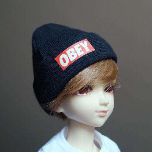 """Black Beanie Hat Knit For 1//4 17/"""" 44cm  Tall BJD MSD DK AOD LUTS DIM VOLKS Doll"""