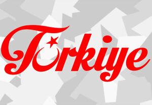2x Aufkleber Türkei ISLAM Turkey türkiye Flag Aufkleber Sticker Halbmond Stern k