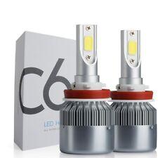 COPPIA LAMPADE LAMPADA AUTO MOTO COB C6 H11 LED 7600LM 72W 6000K BIANCO FREDDO